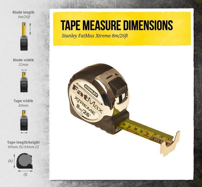 STANLEY FATMAX TAPE MEASURE 8M WIDTH 32MM 0-33-892 METRIC/_IC