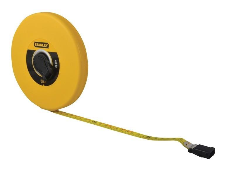 78 On Tape Measure: Stanley Closed Case Fibreglass Tape 30m 0-34-297