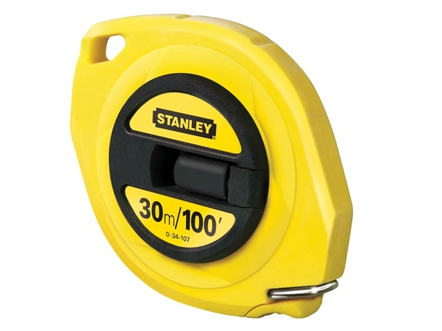 Stanley Closed Case Steel Tape 30m100ft 034107 Tape Measures