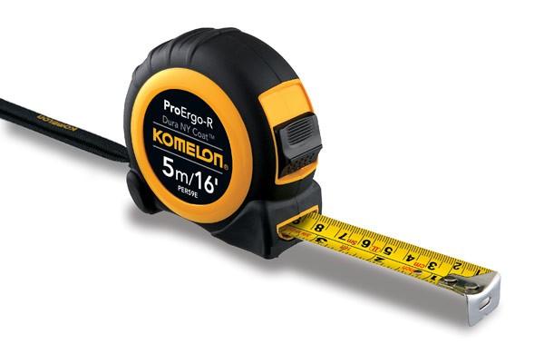 78 On Tape Measure: Komelon Pro Ergo R Tape 5m / 16ft PER59E