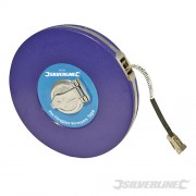 Silverline Fibreglass Surveyors Tape 30m/100ft MT38