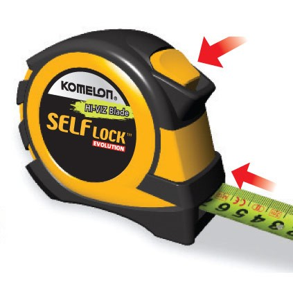 Komelon PSE85E Self Lock Evolution Double Sided Tape Measure 8m 26ft