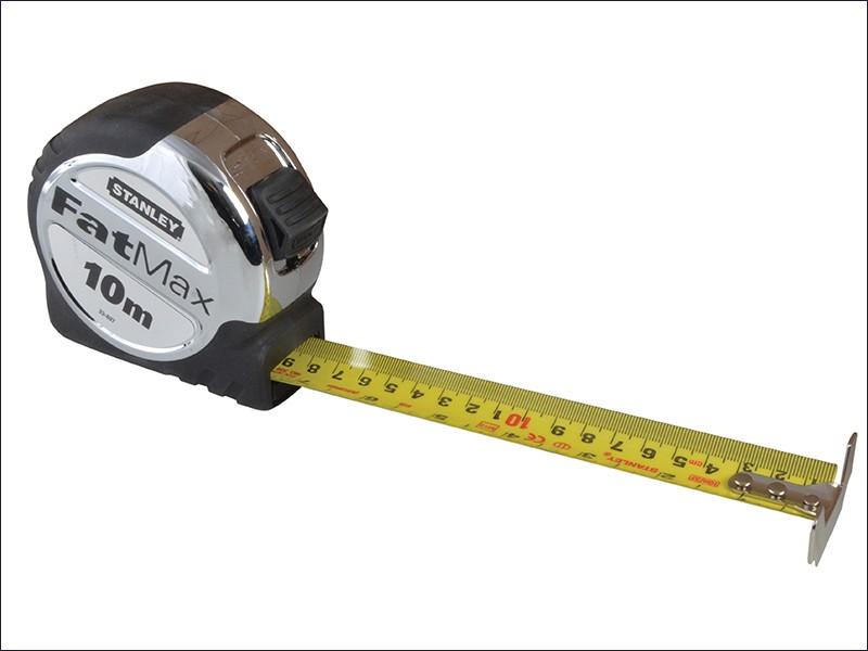 78 On Tape Measure: Stanley FatMax Tape Measure 10m 0-33-897
