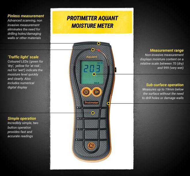 Protimeter Aquant Moisture Meter Damp Meters The Tape